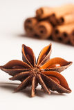 Aniseed and cinnamon Royalty Free Stock Photos