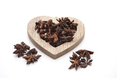 Aniseed in the heart symbol Royalty Free Stock Images