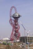 Anish Kapoor's Olympic sculpture. LONDON, UK – MARCH 24: Anish Kapoor's sculpture for the Olympic Park on March 24, 2012 in London. The Olympic Park is due to Royalty Free Stock Photos