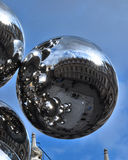 Anish Kapoor steel ball Tall Tree and The Eye Royalty Free Stock Image