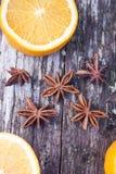 Anisum Pimpinella γλυκάνισου αστεριών Στοκ Εικόνες