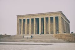 Anitkabir - μαυσωλείο Ataturk, Άγκυρα Τουρκία Στοκ φωτογραφίες με δικαίωμα ελεύθερης χρήσης