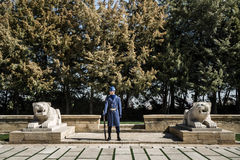 Anitkabir, mausoleo di Mustafa Kemal Ataturk, il fondatore di Th Fotografia Stock Libera da Diritti