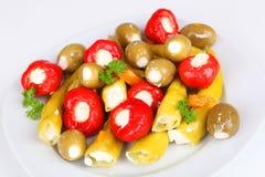Anitpasto. Mixed antipasto on a plate Royalty Free Stock Photo