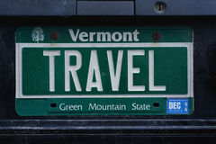 Anity license plate Vermont Royalty Free Stock Photos