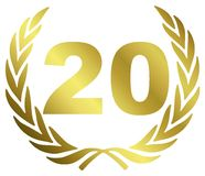 Aniversário 20 Fotografia de Stock Royalty Free