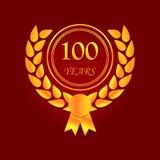 Aniversário, 100 anos de ícone colorido Pode ser usado para a Web, logotipo, app móvel, UI, UX ilustração stock