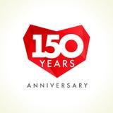Aniversário 150 anos de corações velhos Imagens de Stock Royalty Free