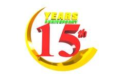 Aniversário 15 anos de 3D ilustração royalty free