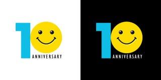 aniversário 10 com divertimento e sorriso Fotografia de Stock Royalty Free