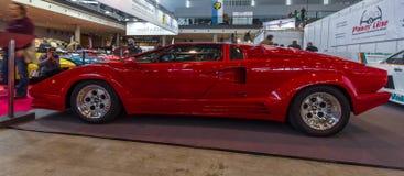 Aniversário Countach de Lamborghini do carro de esportes 25o, 1989 Fotografia de Stock