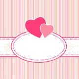 Aniversário, cumprimento, Valentim ou cartão de casamento ilustração do vetor