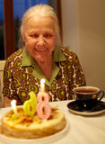 Aniversário da avó 86th. Imagens de Stock Royalty Free
