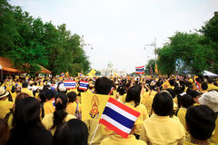 Aniversário da celebração do rei Tailândia Foto de Stock