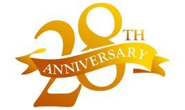 Aniversário da fita de 28 anos Imagens de Stock Royalty Free