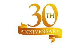 Aniversário da fita de 30 anos ilustração do vetor