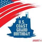 Aniversário da guarda costeira do Estados Unidos Fotografia de Stock Royalty Free