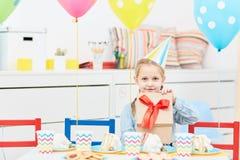 Aniversário da menina Imagem de Stock Royalty Free