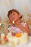 Aniversário da menina fotografia de stock