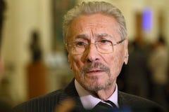 Aniversário da OTAN - Emil Constantinescu, ex-presidente de Romênia fotografia de stock royalty free