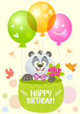 Aniversário da panda Fotografia de Stock Royalty Free