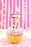 Aniversário da rapariga imagem de stock