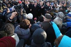 Aniversário da revolução da dignidade em Ucrânia Imagens de Stock Royalty Free