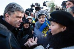 Aniversário da revolução da dignidade em Ucrânia Foto de Stock