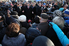 Aniversário da revolução da dignidade em Ucrânia Fotografia de Stock