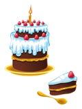 Aniversário do bolo ilustração royalty free