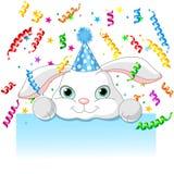 Aniversário do coelho Fotografia de Stock Royalty Free