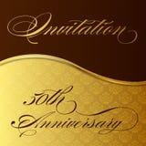 Aniversário do convite 50th Fotografia de Stock Royalty Free
