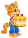 Aniversário do gatinho ilustração stock