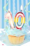 Aniversário do menino décimo Imagens de Stock Royalty Free