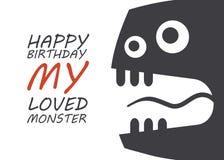 Aniversário do monstro Fotos de Stock