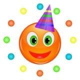 Aniversário do smiley Imagens de Stock