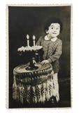Aniversário do vintage Fotos de Stock Royalty Free