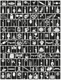 Aniversário dos ícones Imagem de Stock