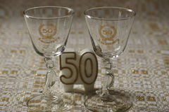 Aniversário dourado Foto de Stock