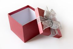 aniversário feliz Chri do cartão do feriado do Natal da caixa de presente Fotografia de Stock Royalty Free