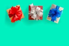 aniversário feliz Chri do cartão do feriado do Natal da caixa de presente Imagens de Stock