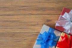 aniversário feliz Chri do cartão do feriado do Natal da caixa de presente Fotografia de Stock