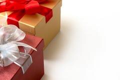 aniversário feliz Chri do cartão do feriado do Natal da caixa de presente Foto de Stock