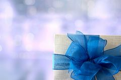 aniversário feliz Chri do cartão do feriado do Natal da caixa de presente Imagem de Stock