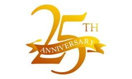 Aniversário Logo Design Template de 25 fitas ilustração stock