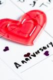 Aniversário marcado em um calendário foto de stock royalty free