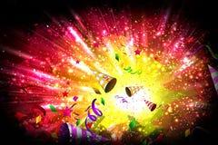 Aniversário ou fundo vibrante do partido Imagem de Stock Royalty Free