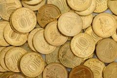 Aniversário raro moedas de 10 rublos Imagem de Stock