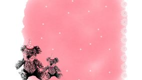 Aniversário Teddy Bears Background Imagem de Stock Royalty Free