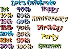 Aniversários especiais Imagens de Stock